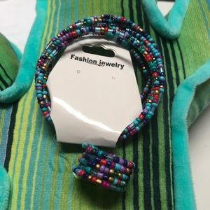 Beautiful mixed beaded bracelet and ring